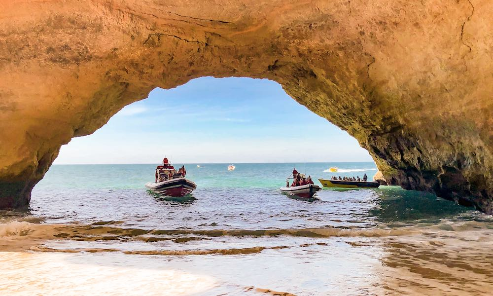If the Faro Portugal weather allows it, go see the Benagil cave by kayak