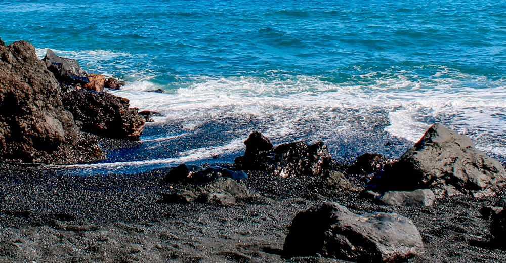 Pohoiki beach is the newest black sand beach on the Big Island of Hawaii