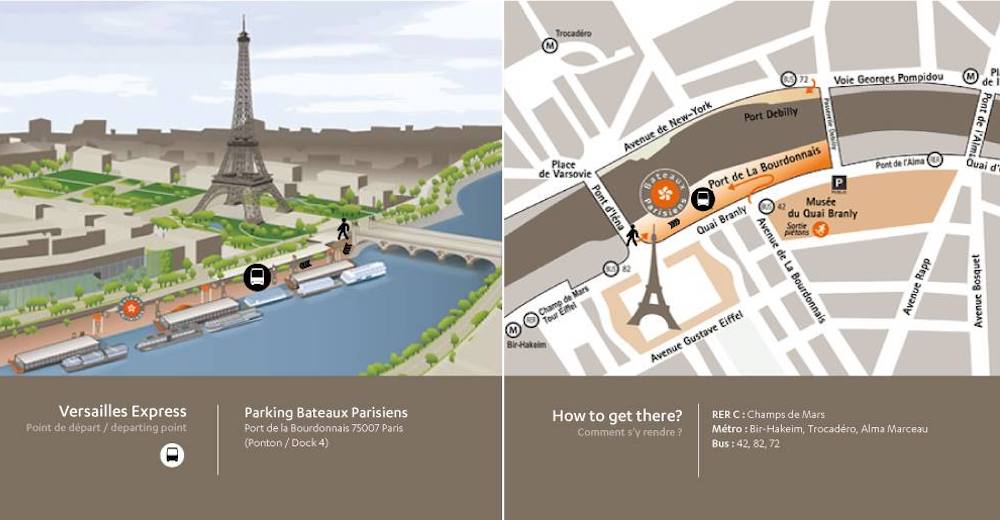 How to get from Paris to Versailles by shuttle
