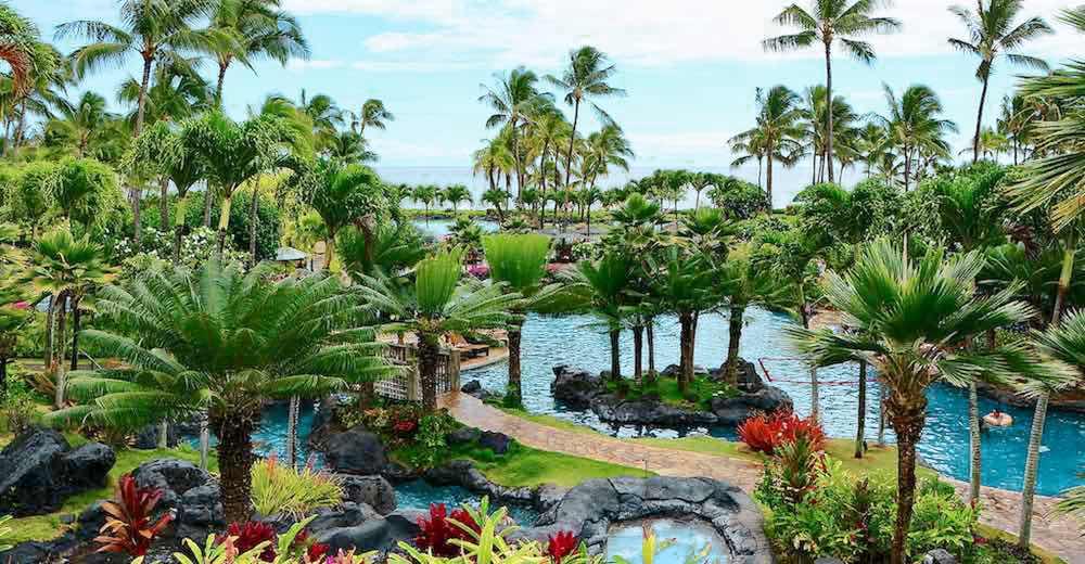 The Grand Hyatt Kauai Resort is the most popular Kauai family resort