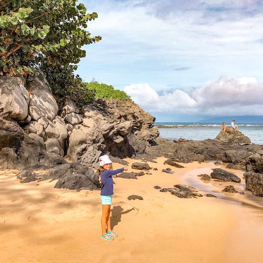 Maui is where to go for a Hawaii vacation with toddler thanks to the many soft sand beaches