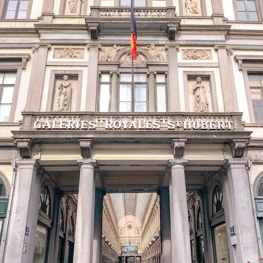 Entrance to the Brussels Royal Saint Hubert Galleries