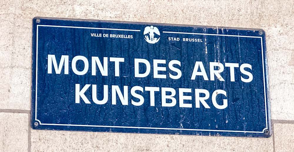 Brussels is a bilingual city so all street signs contains both languages