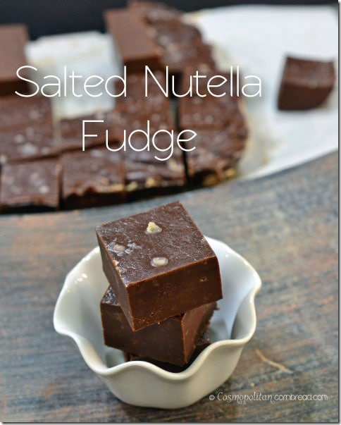 Salted Nutella Fudge from Cosmopolitan Cornbread