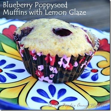 Blueberry Poppy Seed Muffins © CosmopolitanCornbread.com