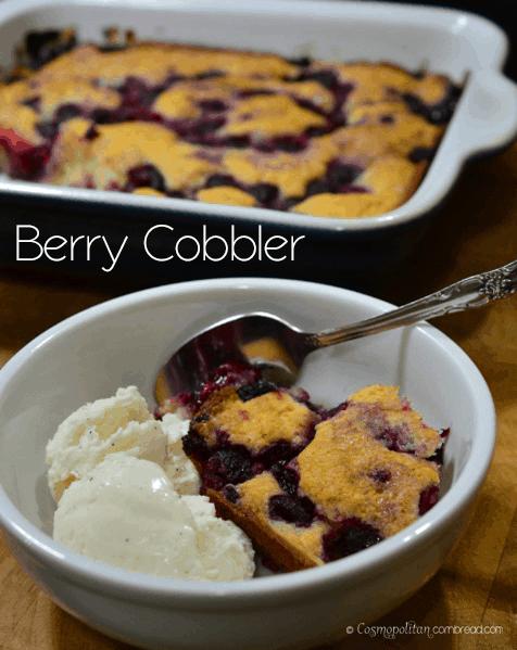 Berry Cobbler from Cosmopolitan Cornbread