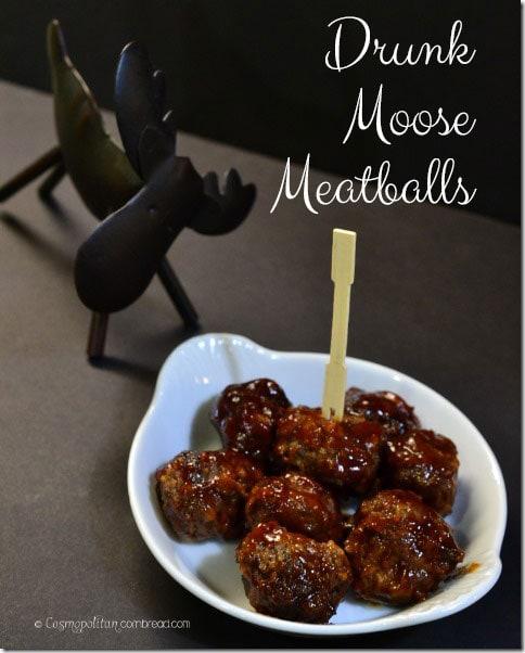 Drunk Moose Meatballs from Cosmopolitan Cornbread