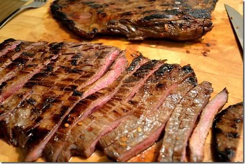 Marinated, Skillet-Seared Flank Steaks