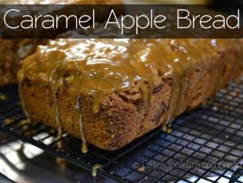 Drool-worthy Caramel Apple Bread from Cosmopolitan Cornbread