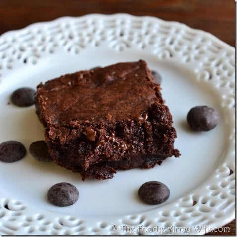 Chewy Brownies from The Foodie Army Wife