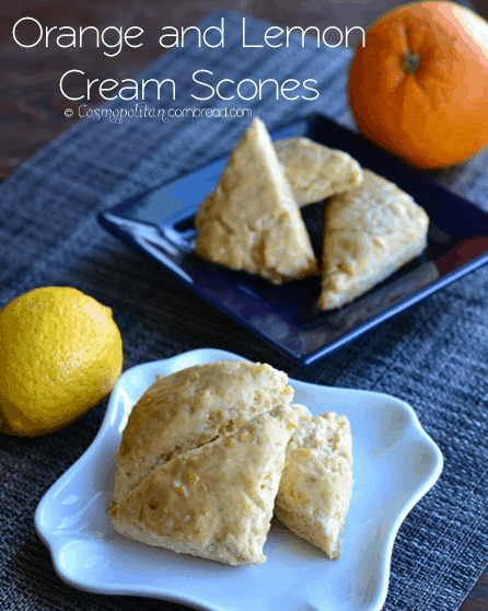 Lemon or Orange Cream Mini Scones