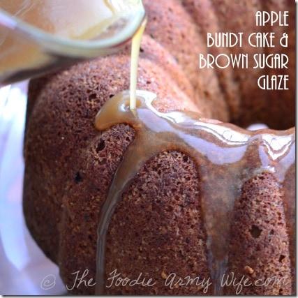 Apple Bundt Cake with Brown Sugar Glaze