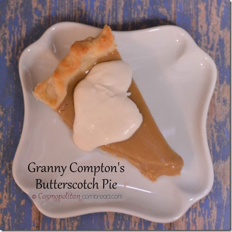 Granny Compton's Butterscotch Pie from Cosmopolitan Cornbread