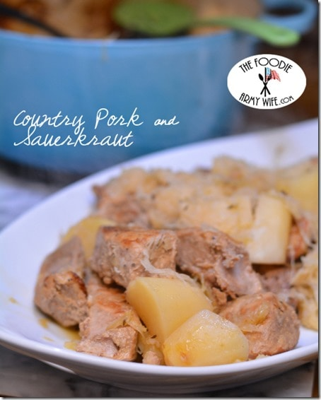 Country Pork & Sauerkraut from The Foodie Army Wife