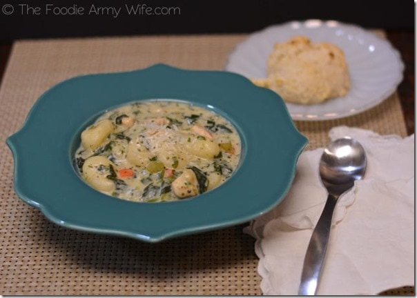 Chicken Gnocchi Soup with Drop Biscuits1
