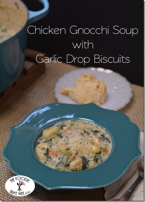 olive garden chicken gnocchi soup and garlic drop biscuits - Olive Garden Gnocchi Soup Recipe