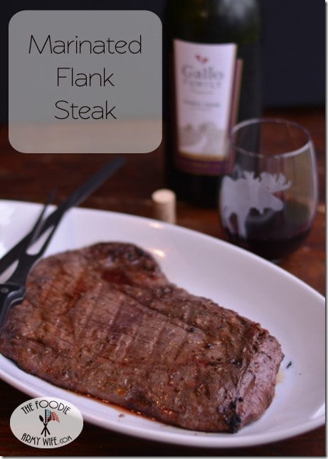 Marinated Flank Steak from The Foodie Army Wife | #SundaySupper