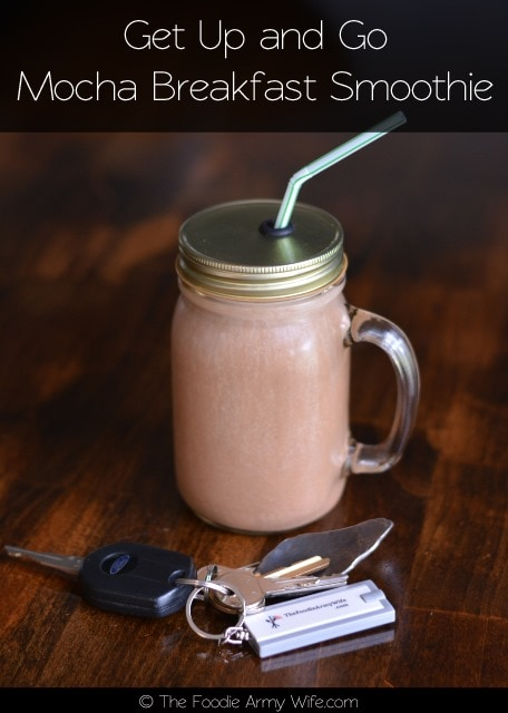 Get Up and Go Mocha Breakfast Smoothie from The Foodie Army Wife