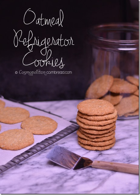 Oatmeal Refrigerator Cookies from Cosmopolitan Cornbread