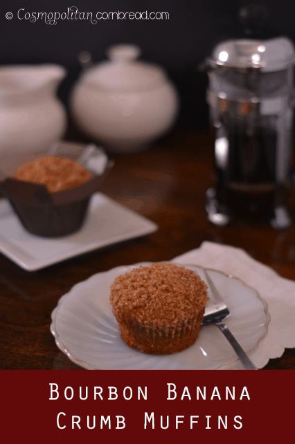 Bourbon Banana Crumb Muffins