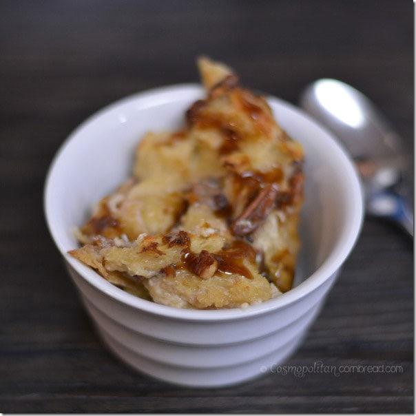Rich and decadent Butterscotch Bread Pudding from Cosmopolitan Cornbread