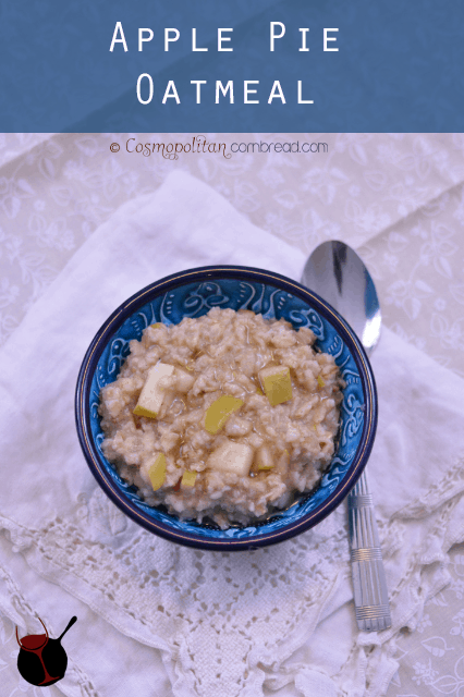 Apple Pie Oatmeal is a great way to start your day in a heart-healthy way! Get this and many more heart healthy recipes from Cosmopolitan Cornbread