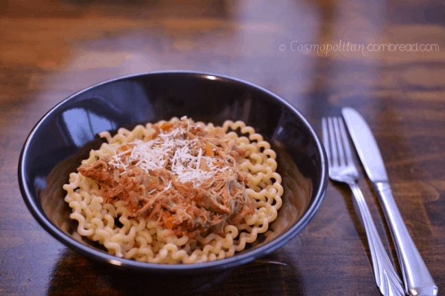 Slow Cooker Pork Ragu from Cosmopolitan Cornbread