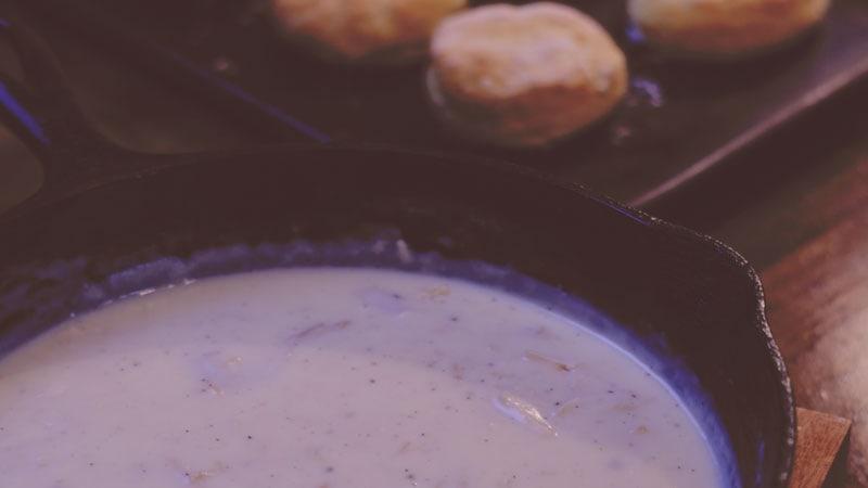Creamed Turkey on Biscuits