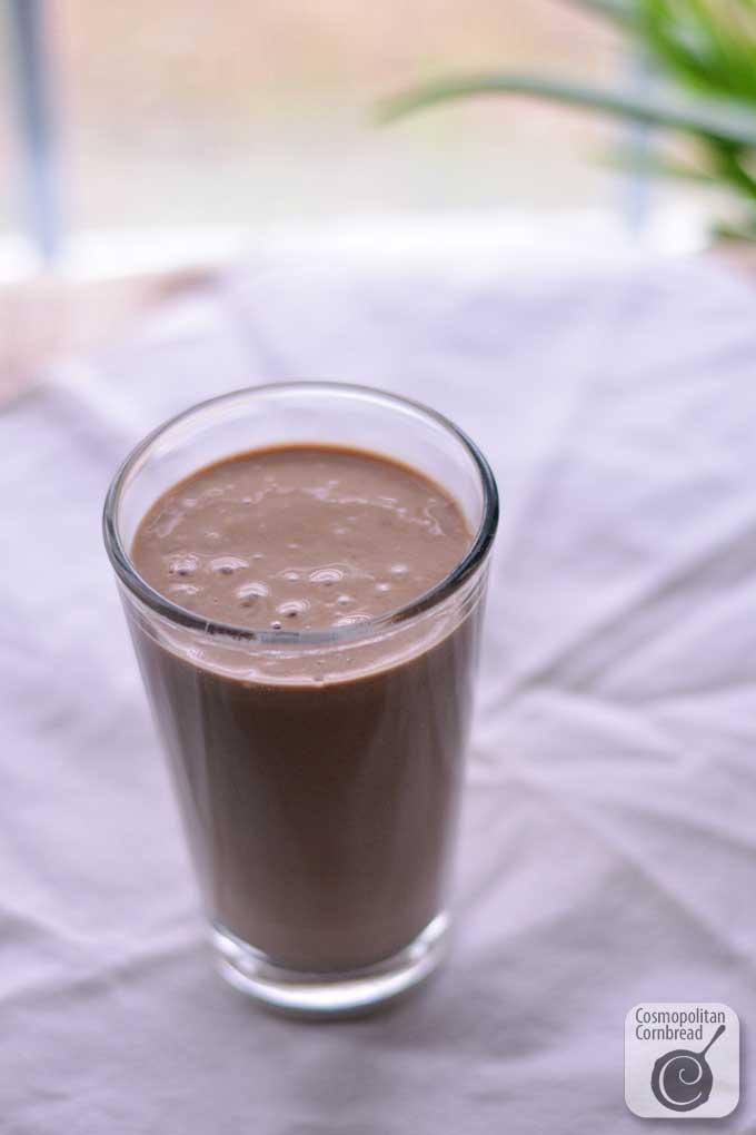 Guilt-Free Chocolate Milk Shake (smoothie) from Cosmopolitan Cornbread