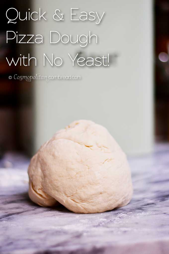 Quick & Easy Pizza Crust that takes no Yeast! Get the recipe from Cosmopolitan Cornbread