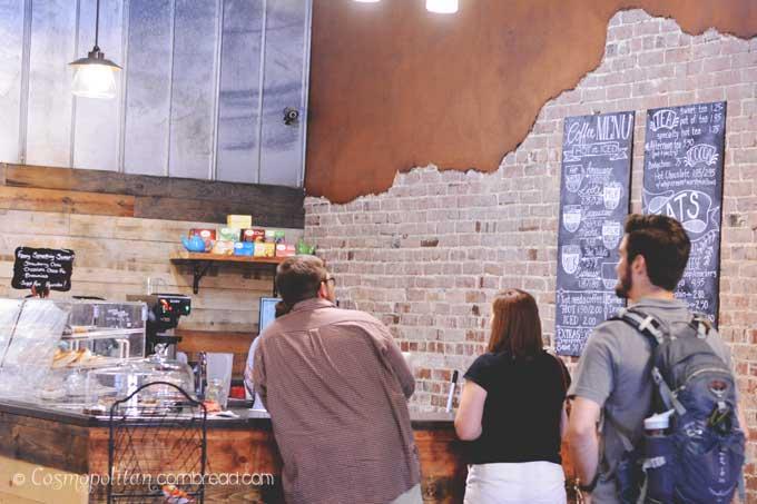 Old Town Coffee Company in Historic downtown of Hartselle, Alabama | Cosmopolitan Cornbread