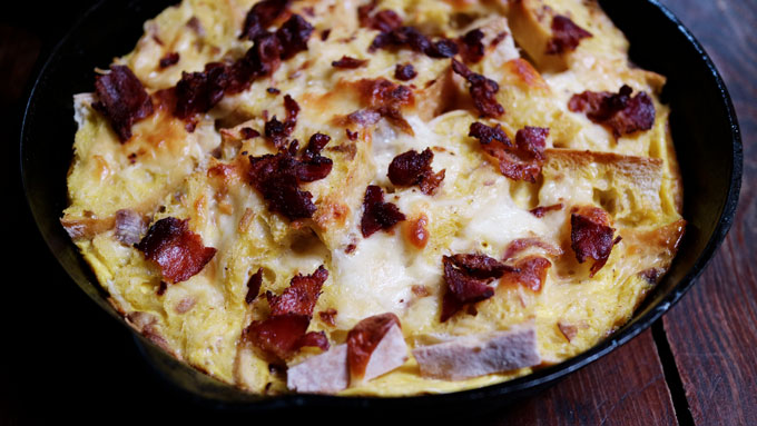 Bacon & Egg Strata