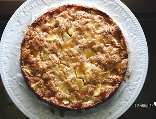German Apple Cake with Rum Raisins   A delicious cake, perfect for autumn. Get the recipe from Cosmopolitan Cornbread