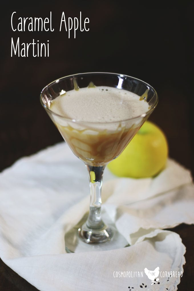 Caramel Apple Martini - This is the ultimate autumn cocktail. Get the recipe from Cosmopolitan Cornbread.