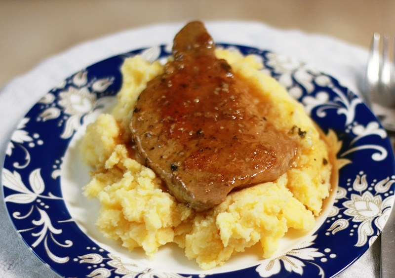 Juicy, skillet-seared pork chops with a lovely pan sauce. Stop what you are doing and make this. Get the recipe from Cosmopolitan Cornbread.