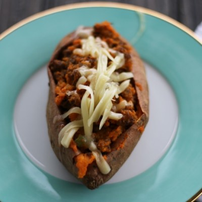South Western Twice-Baked Sweet Potatoes | Low-Carb