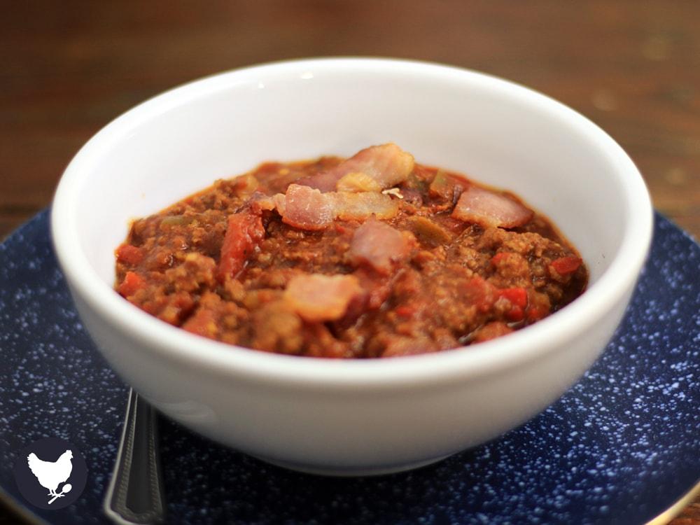 Smokey Bacon Chili   Paleo