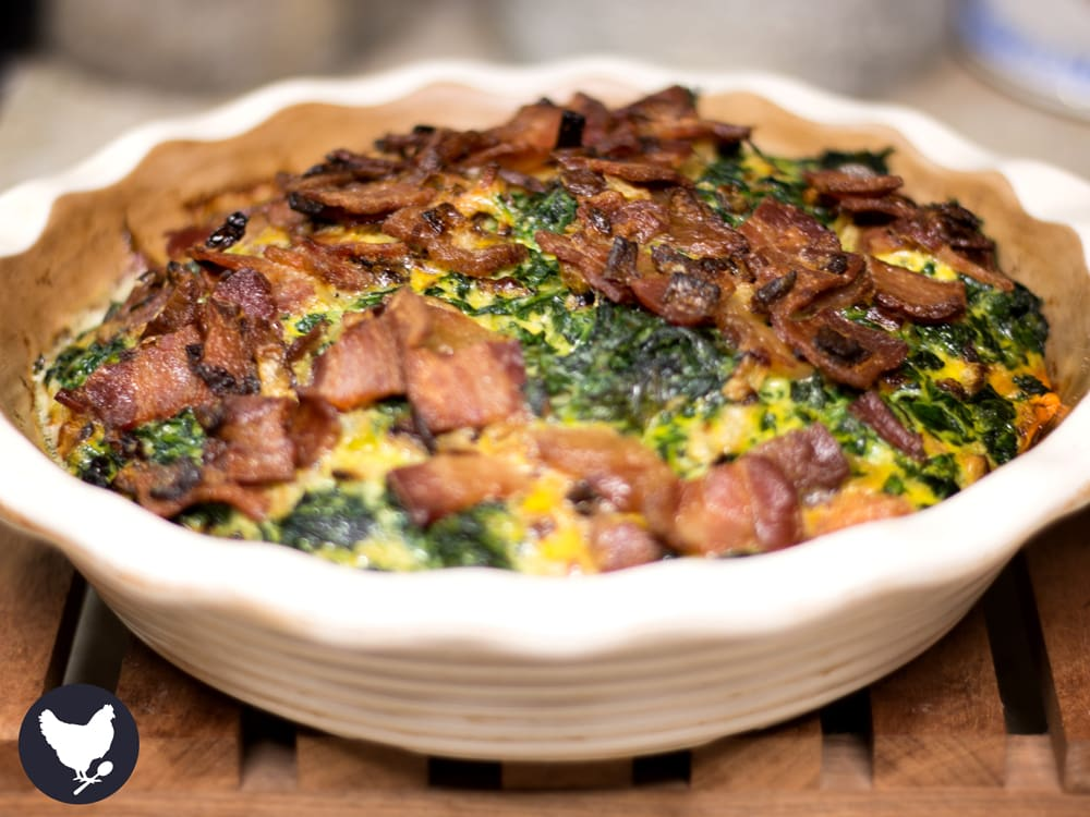 Sweet Potato Quiche with Bacon and Spinach   Cosmopolitan Cornbread