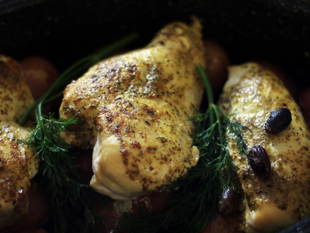 Baked Chicken with Lemon & Dill   Cosmopolitan Cornbread