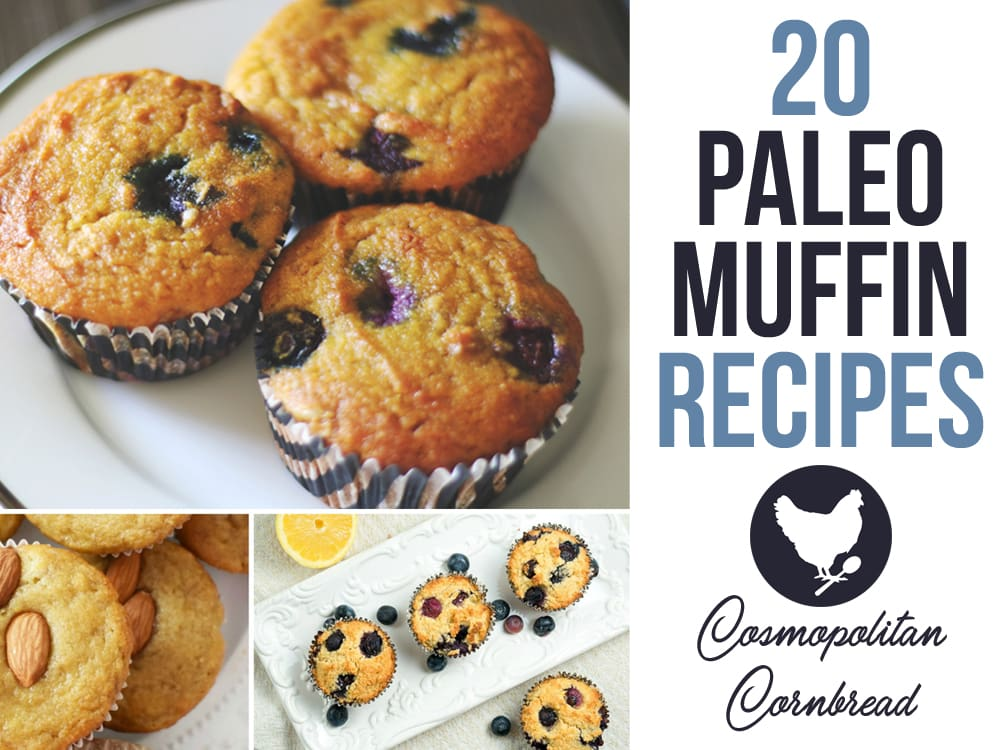 """20 Delicious Paleo Muffin Recipes to suit your every craving. From Blueberry to Orange Pomegranate, you will find many to fall in love with."""""""
