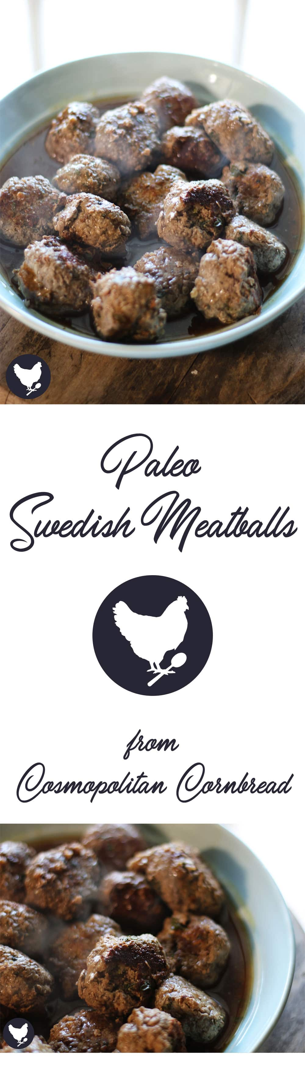 Paleo Swedish Meatballs - Perfectly seasoned and tender Swedish meatballs with a rich and flavorful pan gravy. Get the recipe from Cosmopolitan Cornbread.