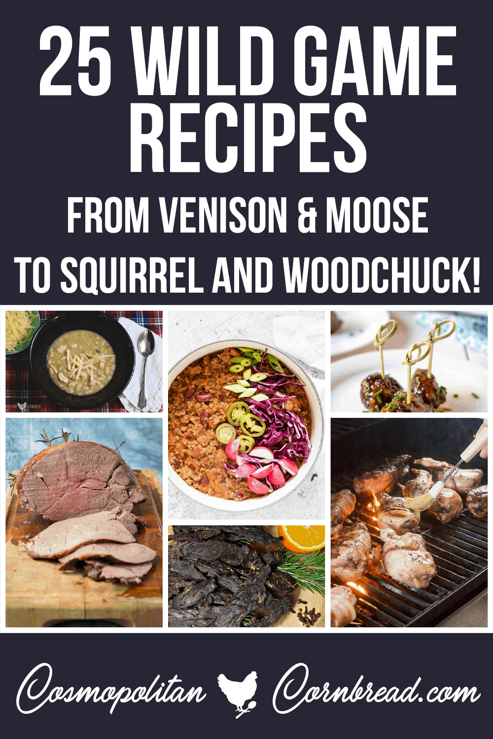 25 Wild Game Recipes for those with a sense of Adventure!