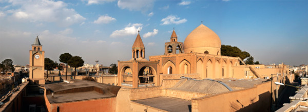 Isfahan: Panoramic view of Vank Cathedral By Ggia via Wikimedia Commons