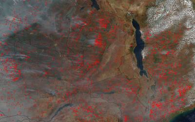 Central African Fires Increase Black Carbon Risk