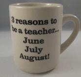 summer months teaching mug
