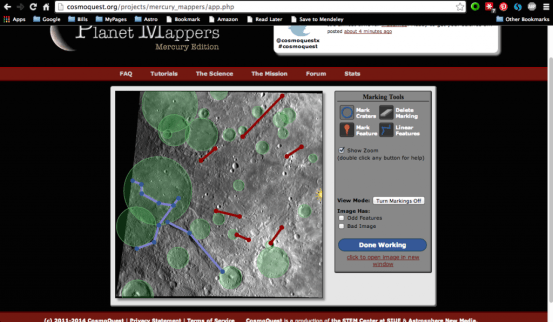 Some recent Mercury mapping by Nicole