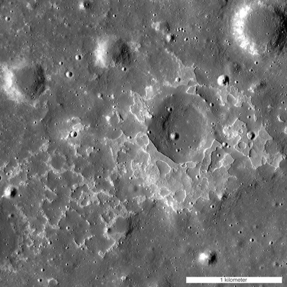 The feature called Maskelyne is one of many newly discovered young volcanic deposits on the Moon. Image Credit: NASA/GSFC/Arizona State University