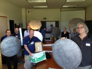 """""""Yay Plates!"""": some happy educators (and SDSS Member, Danielle Skinner in black) excited to be taking their very own SDSS plates back to their schools. Credit: Oliver Fraser."""
