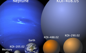 The four new, but as yet unconfirmed, exoplanets. Credit: University of British Columbia