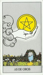carta del día tarot as de oros